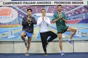 """Il podio con Simone Bernardi terzo in 3'50""""65"""