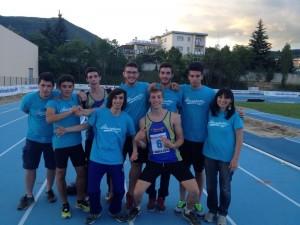 La squadra della scuola Alberghetti che ha vinto il titolo allievi ai Campionati Italiani Studenteschi