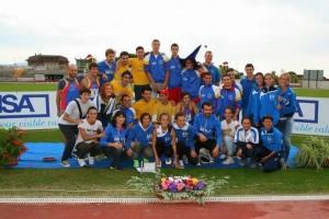 La squadra dell' Atletica Imola alla finale nazionale CDS A2 ad Orvieto