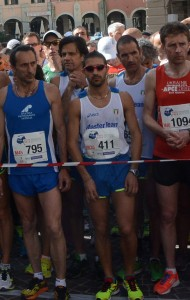 Gianluca Borghesi sulla linea di partenza della Mezza Maratona