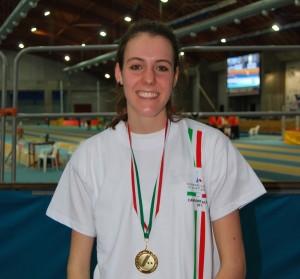 Marta Morara indossa la maglia di campionessa Italiana