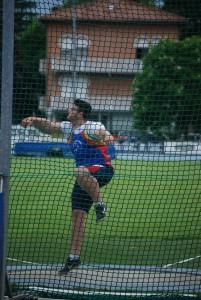 Andrea Berti, primo nel disco con 42.14 dopo la fase di qualificazione