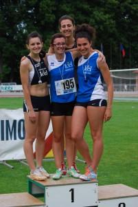 Chiara Sangiorgi, Irene Dottori, Diana Chis, Arianna Vitale le nuove campionesse regionali della 4x400