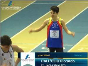 Per un soffio Riccardo Dall'Olio non è riuscito a conquistare la finale dei 400