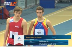 Riccardo Gaddoni centra il record personale negli 800