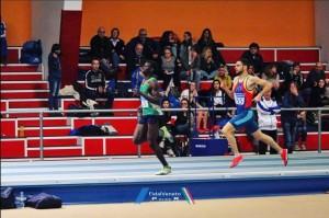 Stefano Grandi nella prova degli 800 a Padova