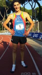 Michele Brini, convocato per le prove multiple al Centro di Preparazione Olimpica di Formia