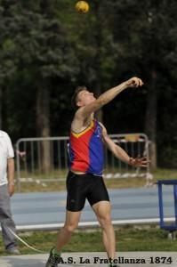 Nel peso, con 11.65, Francesco si è migliorato di 36 cm