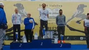 Il podio del Campionato Italiano Assoluto