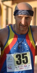 Pietro Peluso che ha partecipato ai 3000m ai campionati italiani master