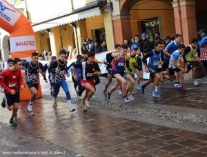 Podistica di Santo stefano - Partenza della categoria Allievi con Luca Malpighi