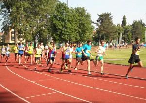Lorenzo Polverelli e Riccardo Dall'Olio alla partenza dei metri 1000 dove registreranno miglioramenti significativi