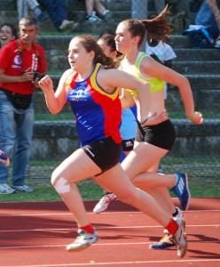 Sara Ronchini, velocista al primo anno allieva, nelle ultime due gare si è già migliorata di 32 centesimi