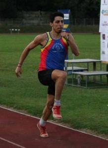 """Federico Xella vincitore del salto in lungo con 6.80 e 9° nei 150 in 17""""44"""