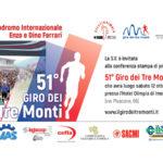 Sabato 12 ottobre la presentazione del 51° «Giro dei Tre Monti»
