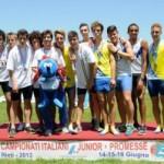 Campionati Italiani Junior e Promesse: 4×400 d'oro