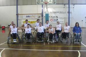 La squadra di Basket in carrozzina dell' Atletica Imola Sacmi AVIS