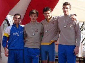 Borghesi, Shtypula, Dottori e Bernardi, squadra vincitrice del titolo regionale